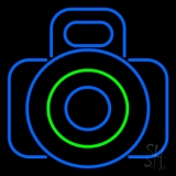 Camera In Blue LED Neon Flex Sign