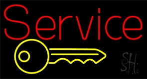 Service With Key Logo LED Neon Flex Sign