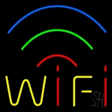Red Wifi Block 5 LED Neon Flex Sign