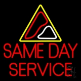 Red Same Day Service LED Neon Flex Sign