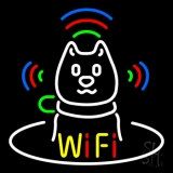Wifi With Dog Logo LED Neon Flex Sign