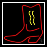 Cowboy Boot With Border LED Neon Flex Sign