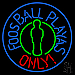 Foosball Playas Only LED Neon Flex Sign