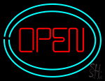 Open With Two Border LED Neon Flex Sign