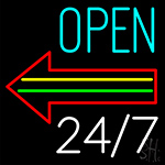 Open Arrow LED Neon Flex Sign