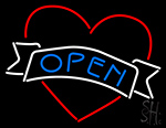 Open Heart LED Neon Flex Sign