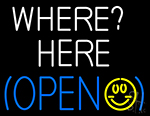 Where Here Open LED Neon Flex Sign