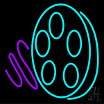 Movie Reel Icon LED Neon Flex Sign