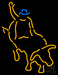 Bull Fighter With Bull Red LED Neon Flex Sign