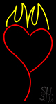 Heart With Flame LED Neon Flex Sign