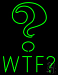 Wtf With Question Mark LED Neon Flex Sign