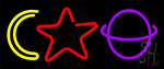 Moon Star Planet LED Neon Flex Sign