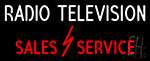 Radio Television Sales Service LED Neon Flex Sign