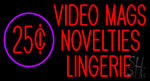 Video Mags Novelties Lingerie LED Neon Flex Sign