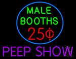 Male Booths Peep Show LED Neon Flex Sign