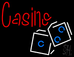 Casino In Red With White And Blue Logo LED Neon Flex Sign