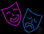 Drama Masks Blue And Purple Logo LED Neon Flex Sign