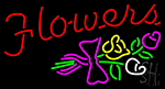 Flowers With Logo LED Neon Flex Sign