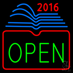 Open Books 2016 LED Neon Flex Sign