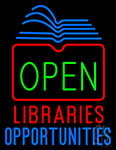 Open Libraries Opportunities LED Neon Flex Sign