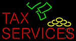 Tax Services With Logo LED Neon Flex Sign