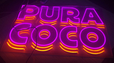 Clear Backing Neon Flex Sign