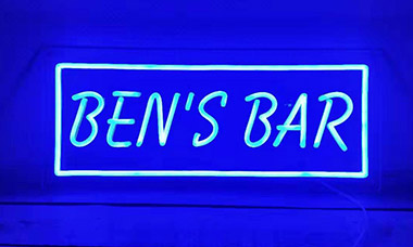 Clear Backing LED Neon Sign