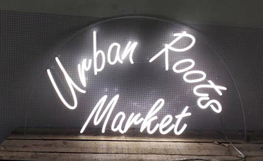 Clear Contoured Backing Neon Flex Sign