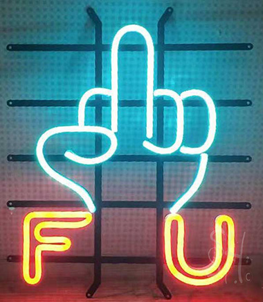 Metal Frame Neon Flex Sign