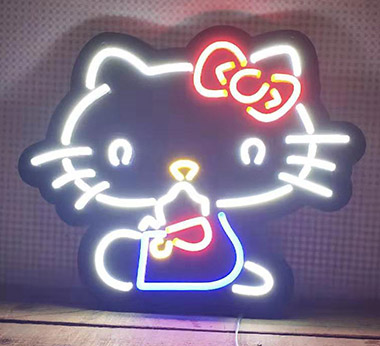 Black Backing Neon Flex Sign