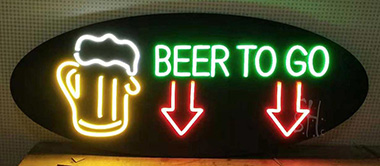 Black Backing LED Neon Sign
