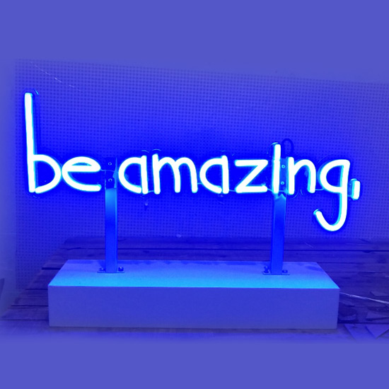 Neon Flex Sign with Stand