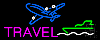 Pink Travel With Logo Neon Flex Sign