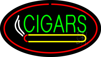 Green Cigars Logo Red Neon Flex Sign
