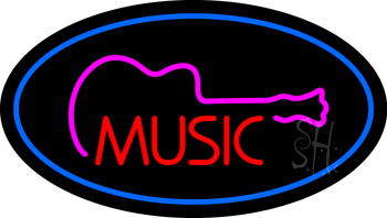 Music Blue Neon Flex Sign