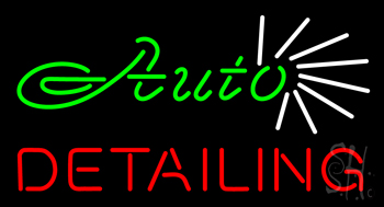 Green Auto Red Detailing Neon Flex Sign
