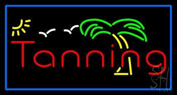 Red Tanning Palm Tree Neon Flex Sign