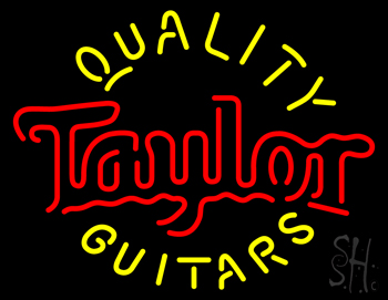 Taylor Quality Guitars Neon Flex Sign