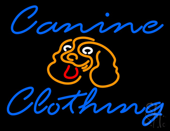 Canine Clothing Neon Flex Sign