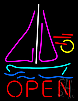 Open Sailboat Neon Flex Sign