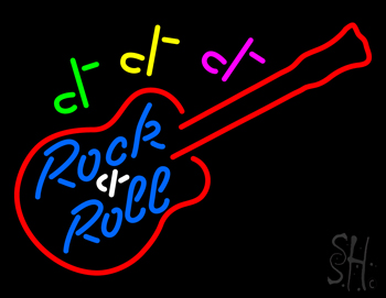 Rock And Roll Guitar Neon Flex Sign