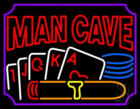Mancave Beer With Cards Neon Flex Sign