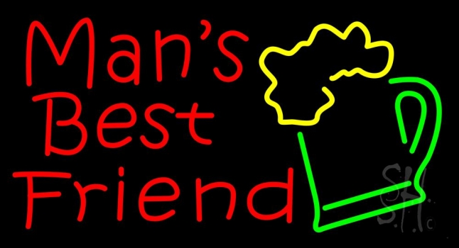 Mans Best Friend Bar With Beer Mug Neon Flex Sign