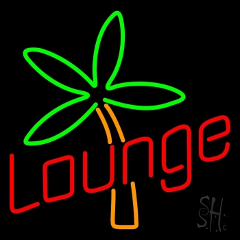 Lounge With Flower Neon Flex Sign