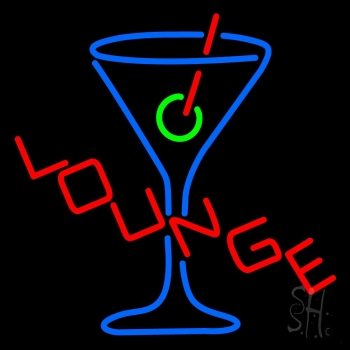 Lounge With Martini Glass Neon Flex Sign