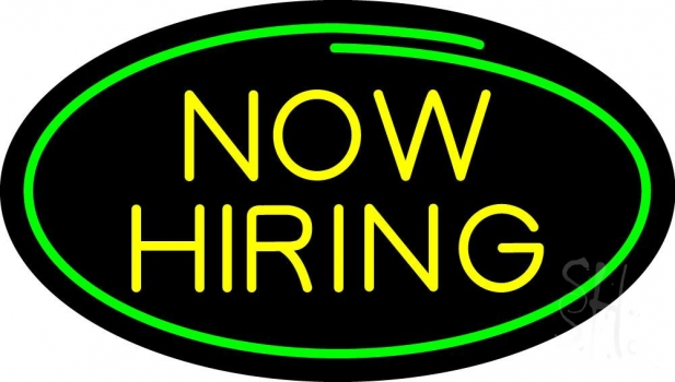 Now Hiring Neon Flex Sign
