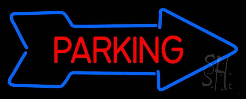 Parking With Arrow Neon Flex Sign