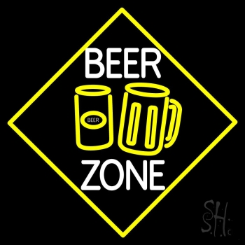 Beer Zone With Beer Mug Neon Flex Sign