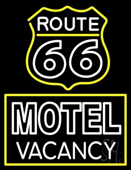 Block Motel Vacancy Neon Flex Sign