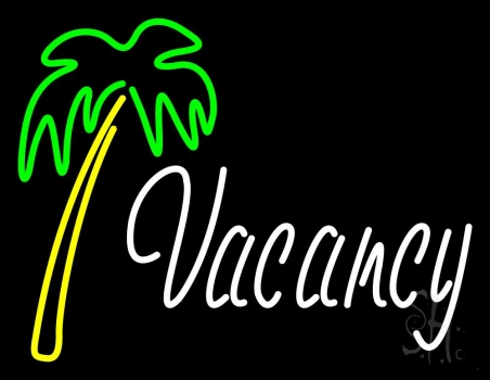Vacancy With Tree Neon Flex Sign